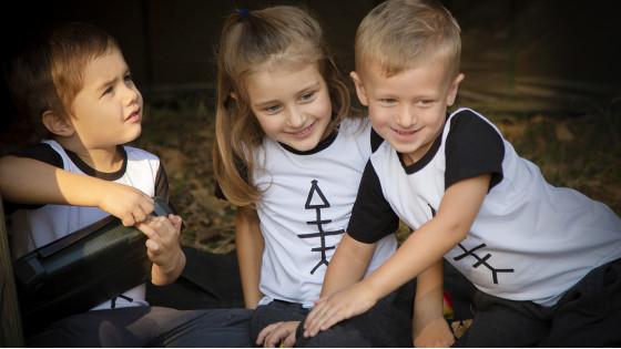 Футболка IRON FISH Біла для дітей до 4 років